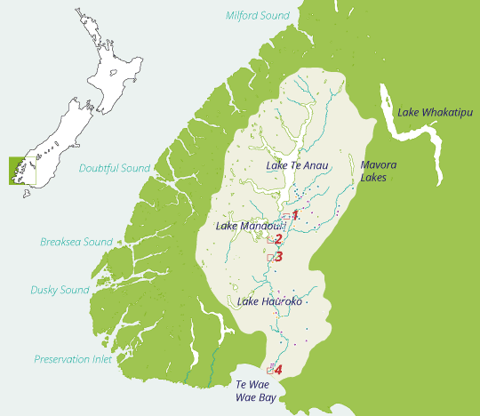 Waiau Trust catchment map