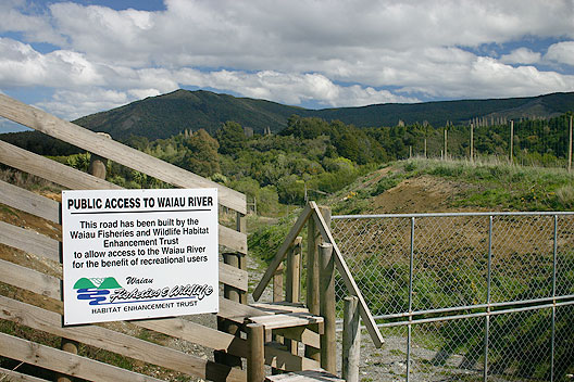 Access to Waiau River created by the Waiau Trust with the landowner at Jerico Station.