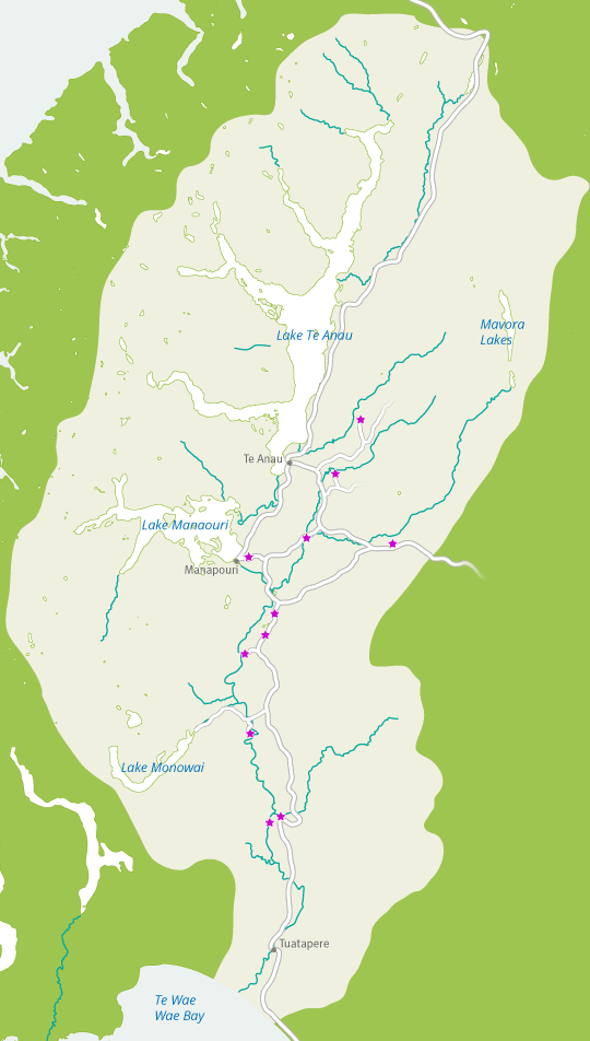 Waiau Trust access projects map